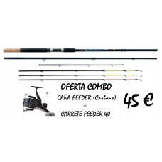 CONJUNTO CAÑA FEEDER  Y CARRETE FEEDER 40